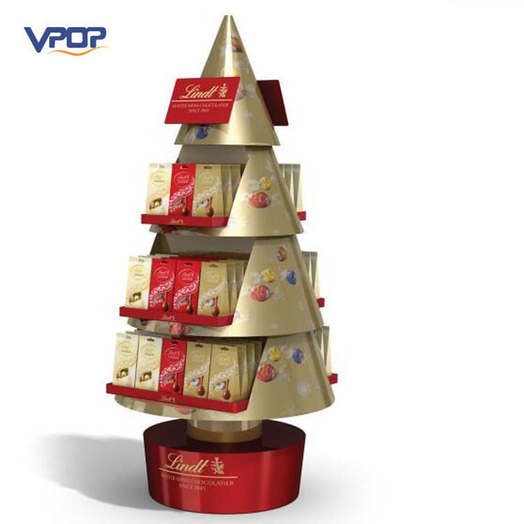 China Supermarket Promotion Corrugated Cardboard Xmas Tree
