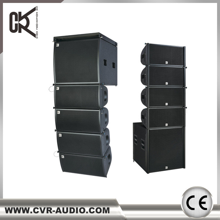 Dual 12 Inch Line Array 2000watt Outdoor Stage Sound Equipment