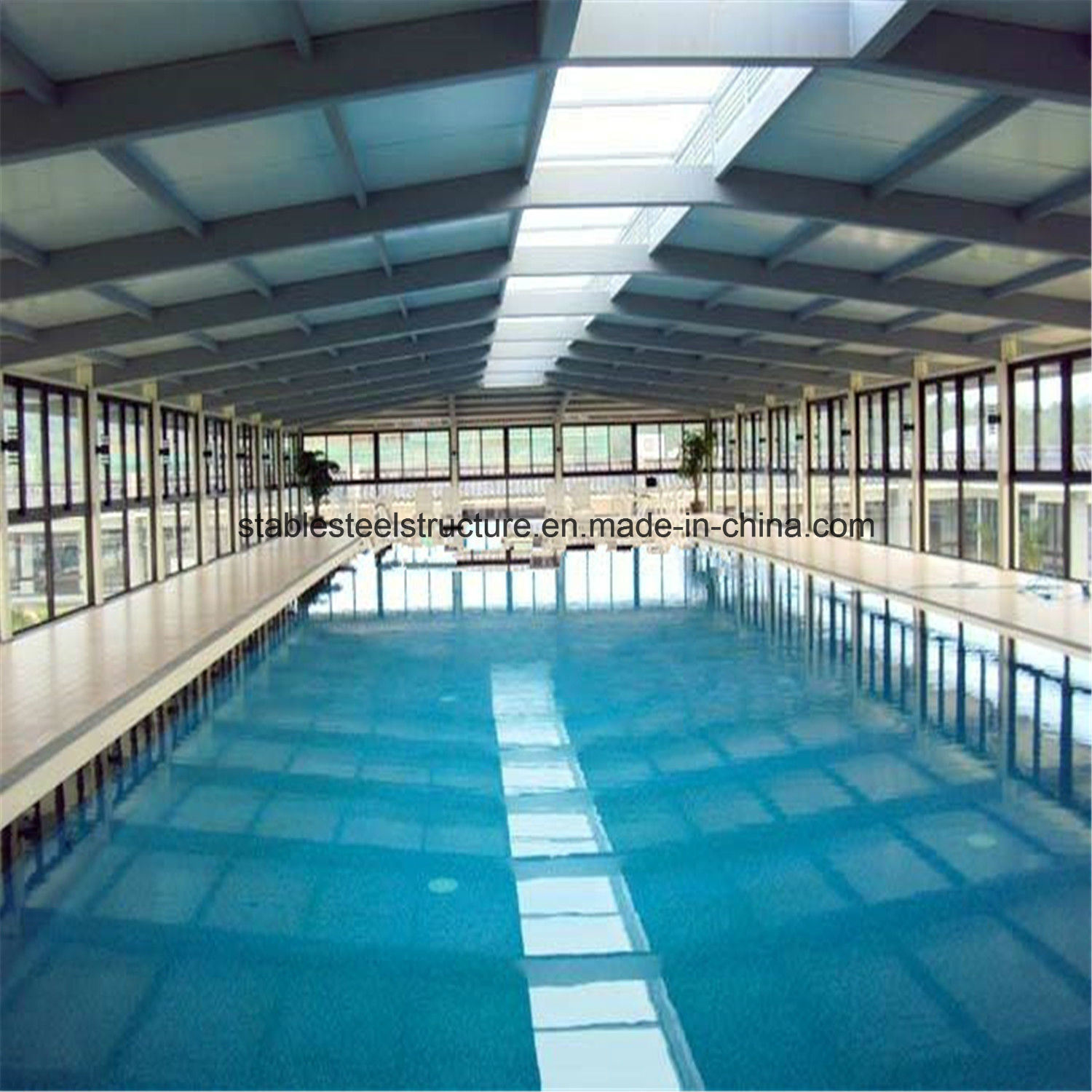 China Prefab Metal Structure Indoor Swimming Pool Bldgs for Sale ...