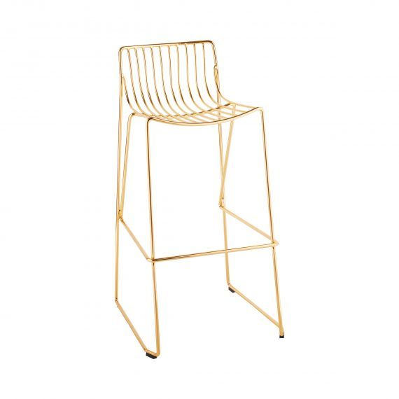 Furniture Gold Metal Wire Bar Stools