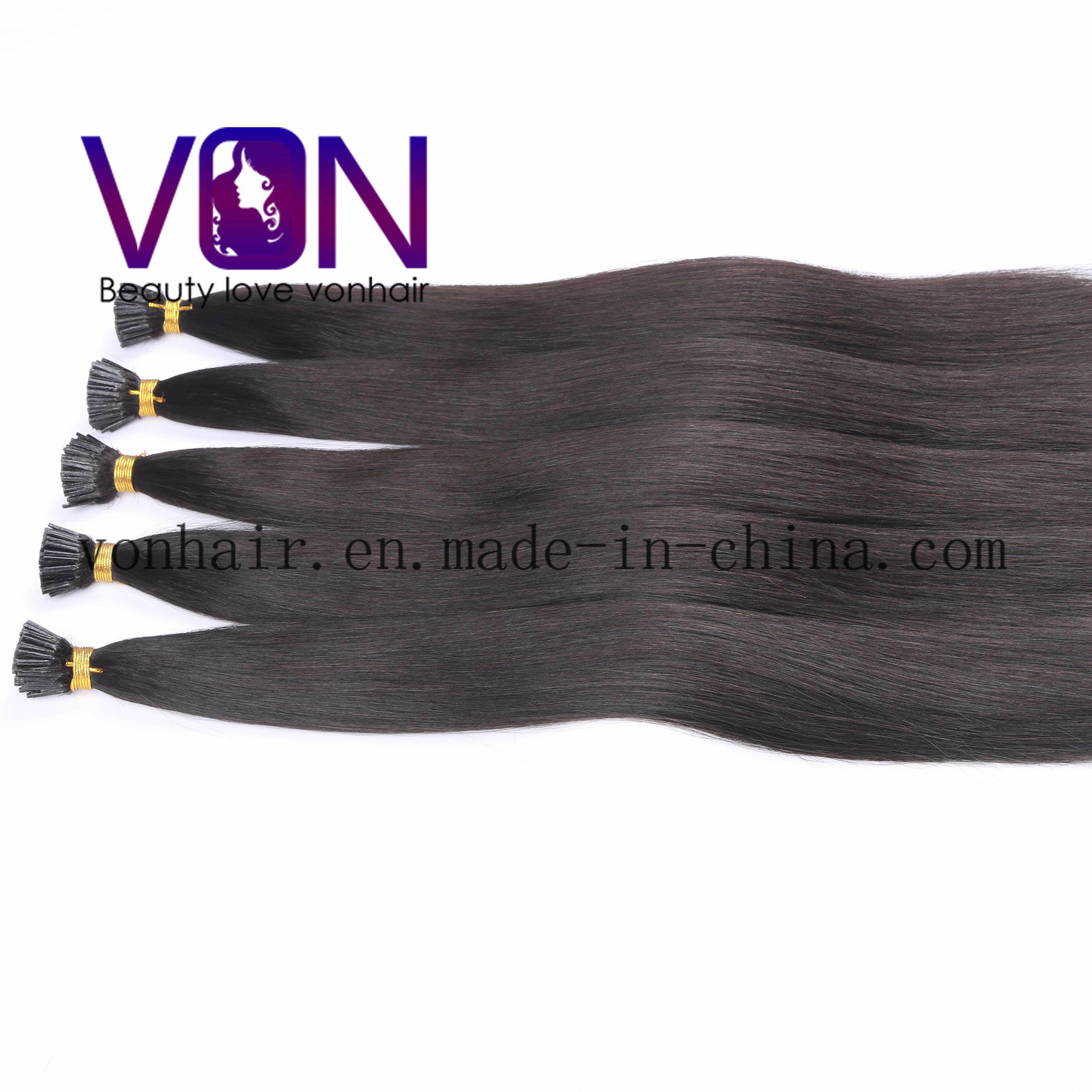 China Wholesale I Tip Hair Extensions Natural Brazilian Hair
