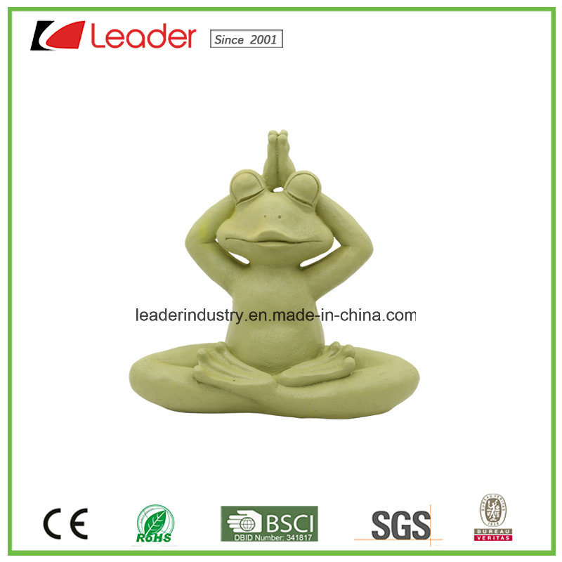 New Meditating Yoga Frog Figurine Tabletop Collectible Statues for Frog Lovers pictures & photos