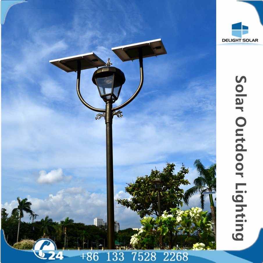 Manufacturer Ce/RoHS/FCC Single/Double Lamp Park Solar LED Garden Outdoor Lighting pictures & photos