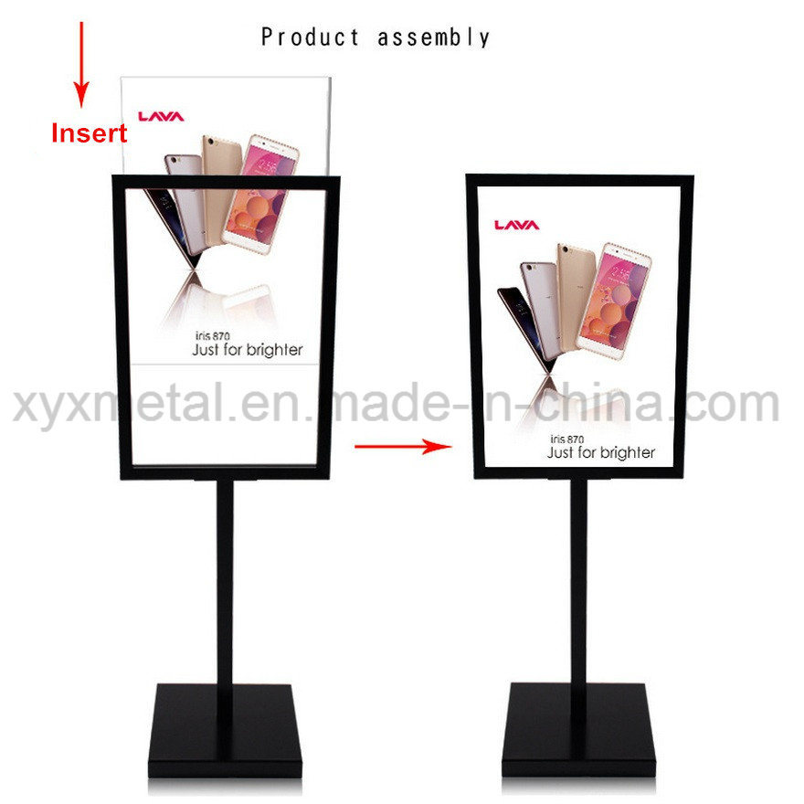 Outdoor Floor Exhibition Banner Display Stand Advertising Poster