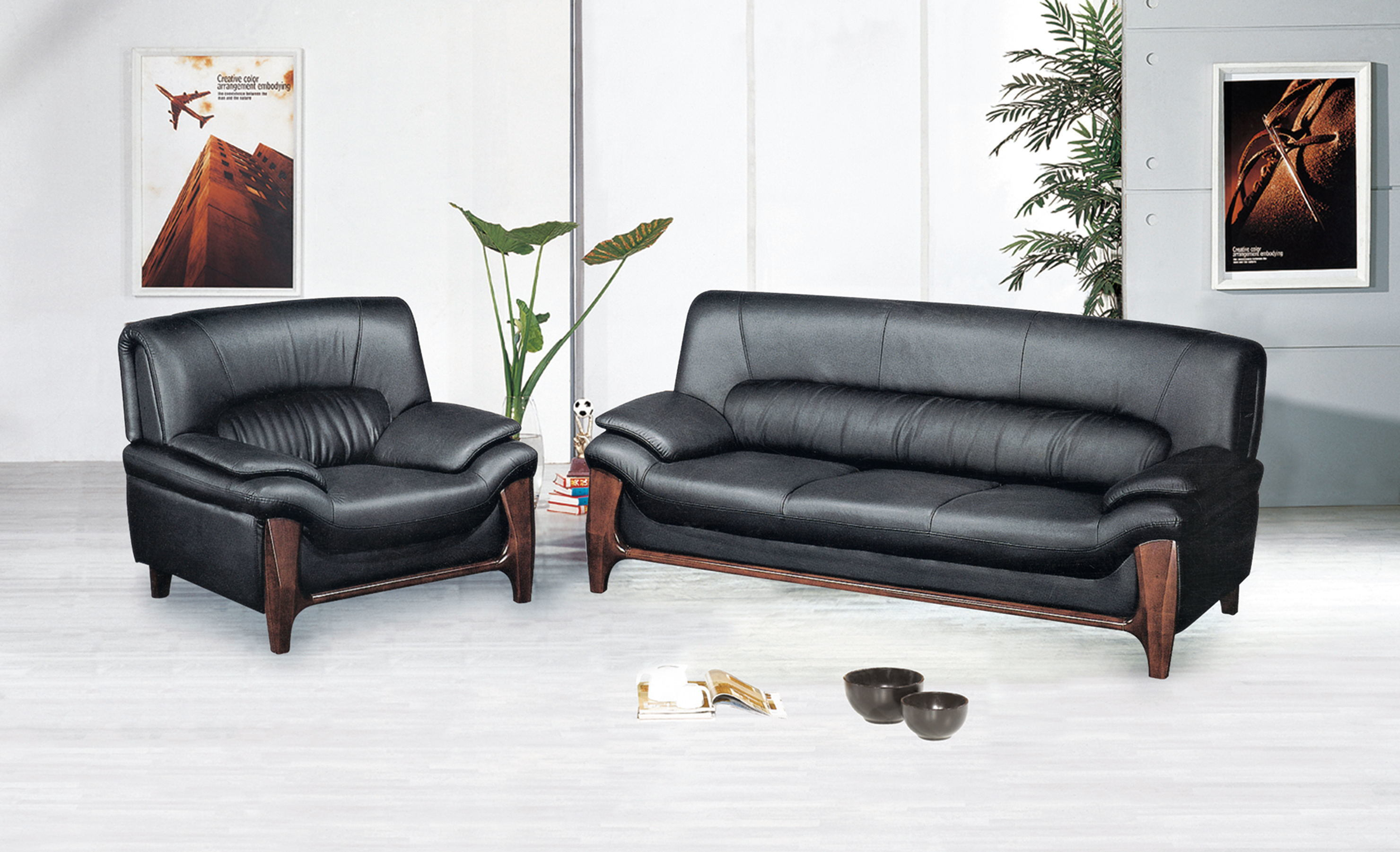 - China Office Genuine Leather Sofa/Modern Leather Sofa Chair Office