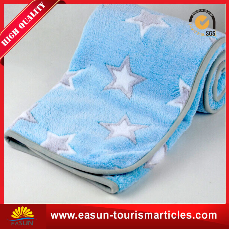 China Promotional Airplane Fleece Blanket With Crochet Patterns
