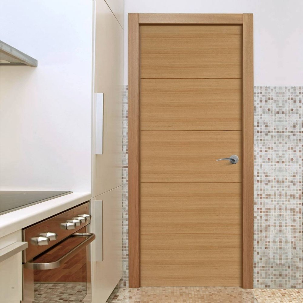 China Oak Veneer Solid Core Interior Doors China Oak Veneer Solid