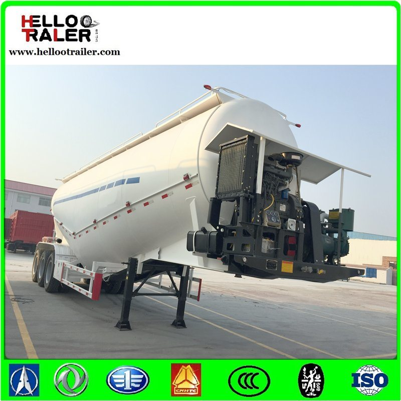 Golden 45cbm Dry Bulk Cement Trailer / Powder Transport Tanker Semi Trailer pictures & photos