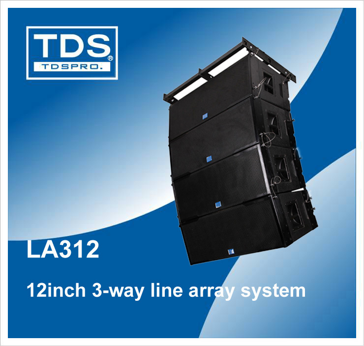 Dual 12inch Three-Way Line Array Loudspeaker LA312
