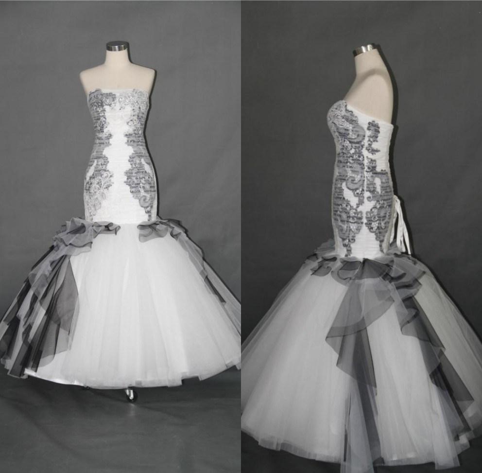 China Black Mermaid Evening Gown Wedding Dresses F5086 Photos