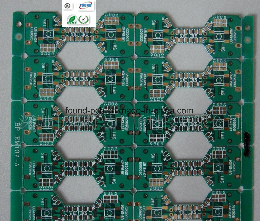 China Double Side Pcb Board With Green Solder Mask Gold Plated Circuit
