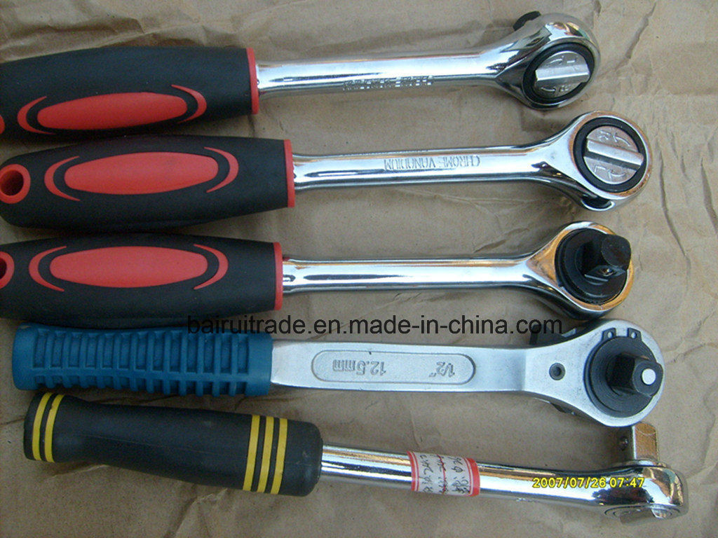 Double Scales Rachet Head Adjustable Torque Wrench Spanner with Grip pictures & photos