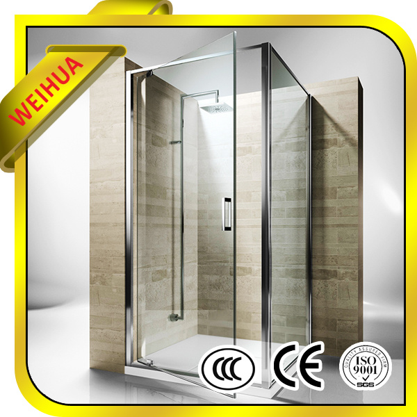 China Wholesale 12mm Thick Tempered Glass Door For Bathroom