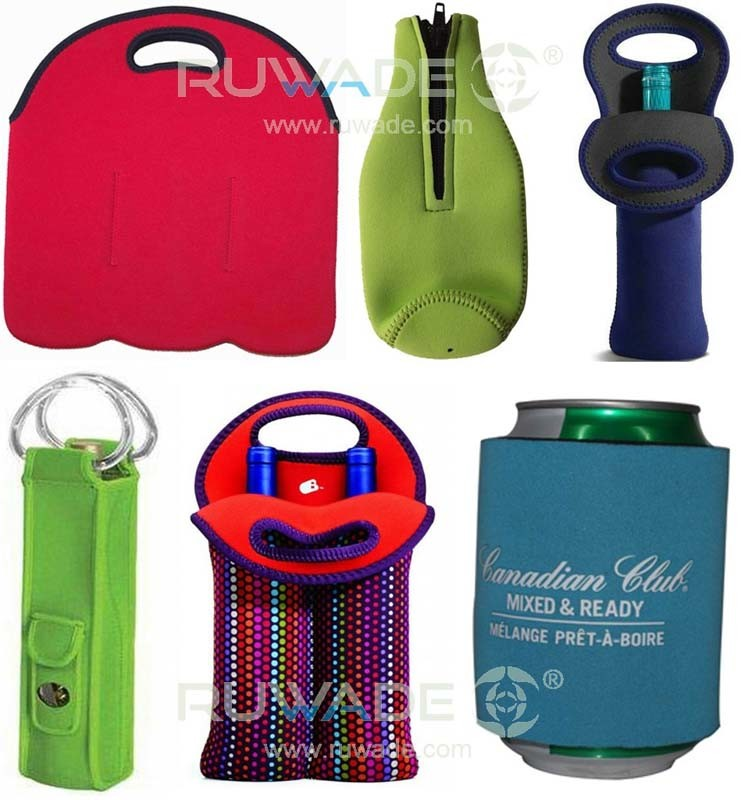 China Neoprene Wine Can Bottle Cooler Holder Tote 2 Pack 6 Pack With Handle Or Zipper Slap Cooler Koozie China Neoprene Bottle Cooler And Neoprene Bottle Holder Price