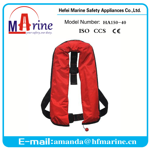 Ce Approved Red Color Inflatable Life Jacket for Rescue