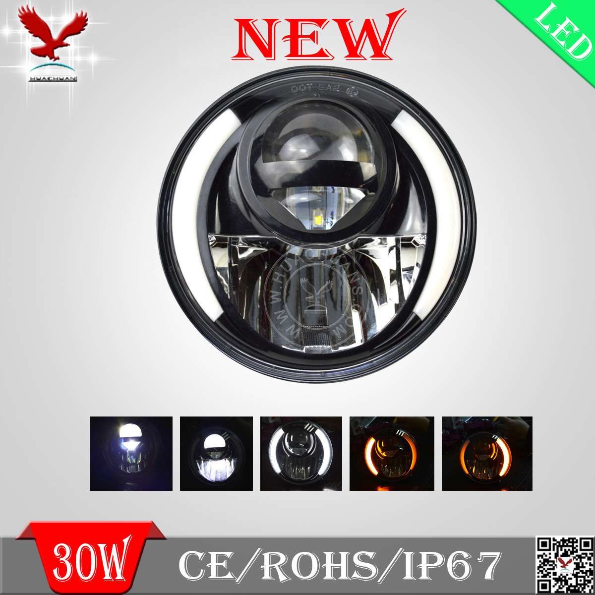 China Led Headlight Offroad Light Unique Beam Patterm Perfect Jeep Wrangler Off Road Lights Shape And Cutting Line For Vechiles Truck Harley Motorcyclejeep