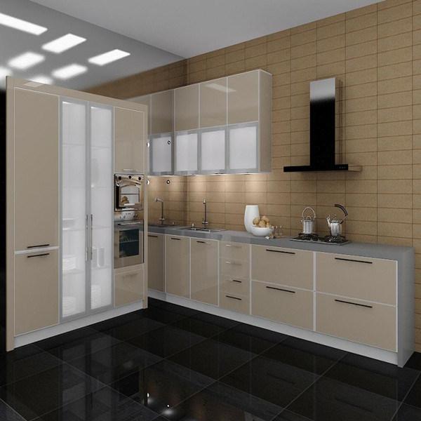 China Custom Made High Glossy Kitchen Cabinet (K-033