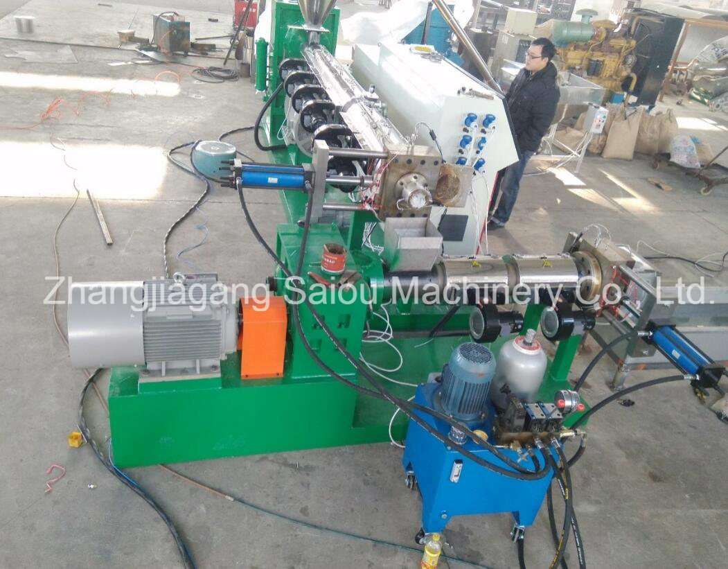 100-500kg/Hour Capacity HDPE Flake Pelletizing Extruder