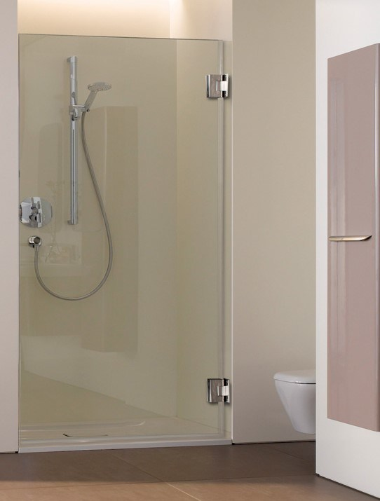 Frameless 10mm Door Tempered Glass Cut Out Slot And Hinge For Shower  Enclosure