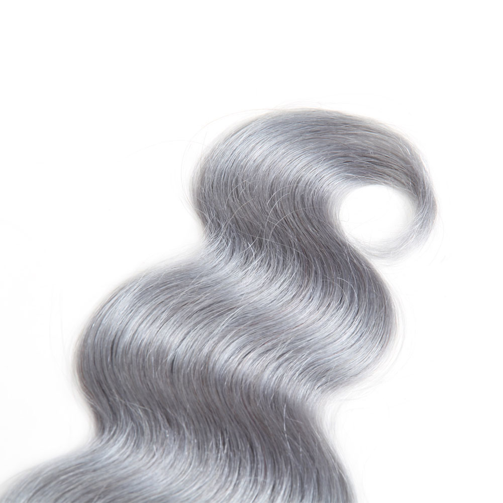 China Ombre 1bgrey Human Hair Weave 1 Piece Double Weft Hair