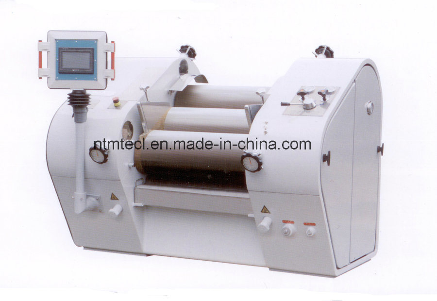 PLC Control Hydraulic Three Roll Mill with Special Hard Alloy Roller for Ink, Pigment, Chocolate, Paste