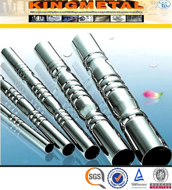 ASTM A554 304 Polish 200# Welded Stainless Steel Decorative Pipe pictures & photos
