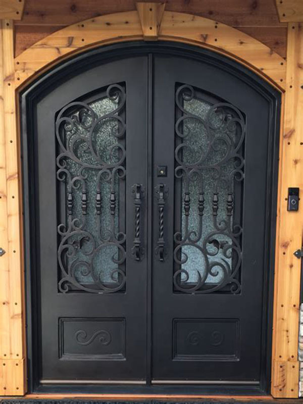 Heavy Duty Arts And Crafts Exterior Custom Iron Front Door