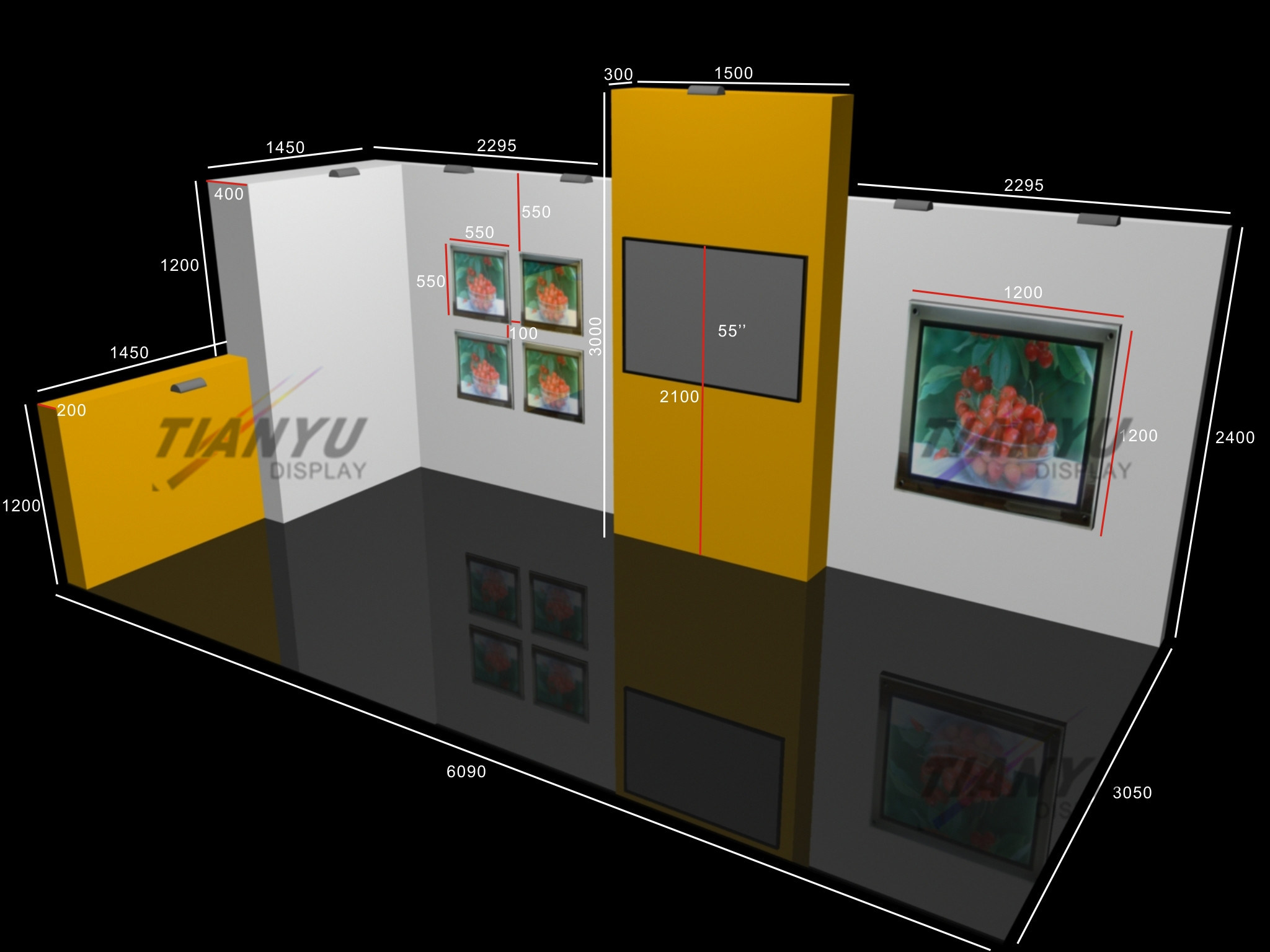 Exhibition Booth Manufacturer China : China advertising modular exhibition booth design