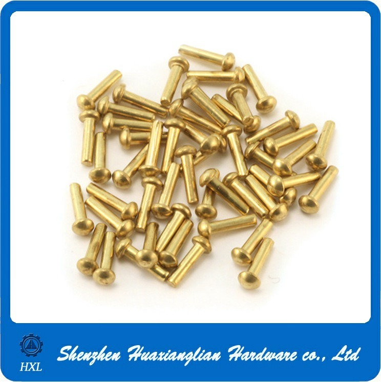 DIN660 2mm 2.5mm Copper Brass Round Head Solid Rivet pictures & photos