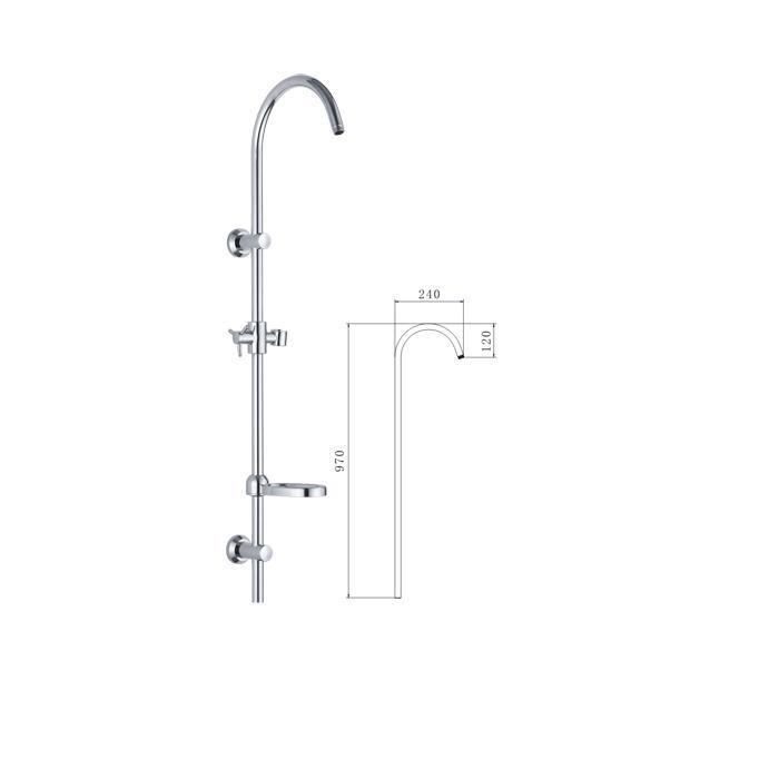 China Luxury Rain Shower Faucet Set Bathroom Shower Kit   China Shower Kit,  Shower Column