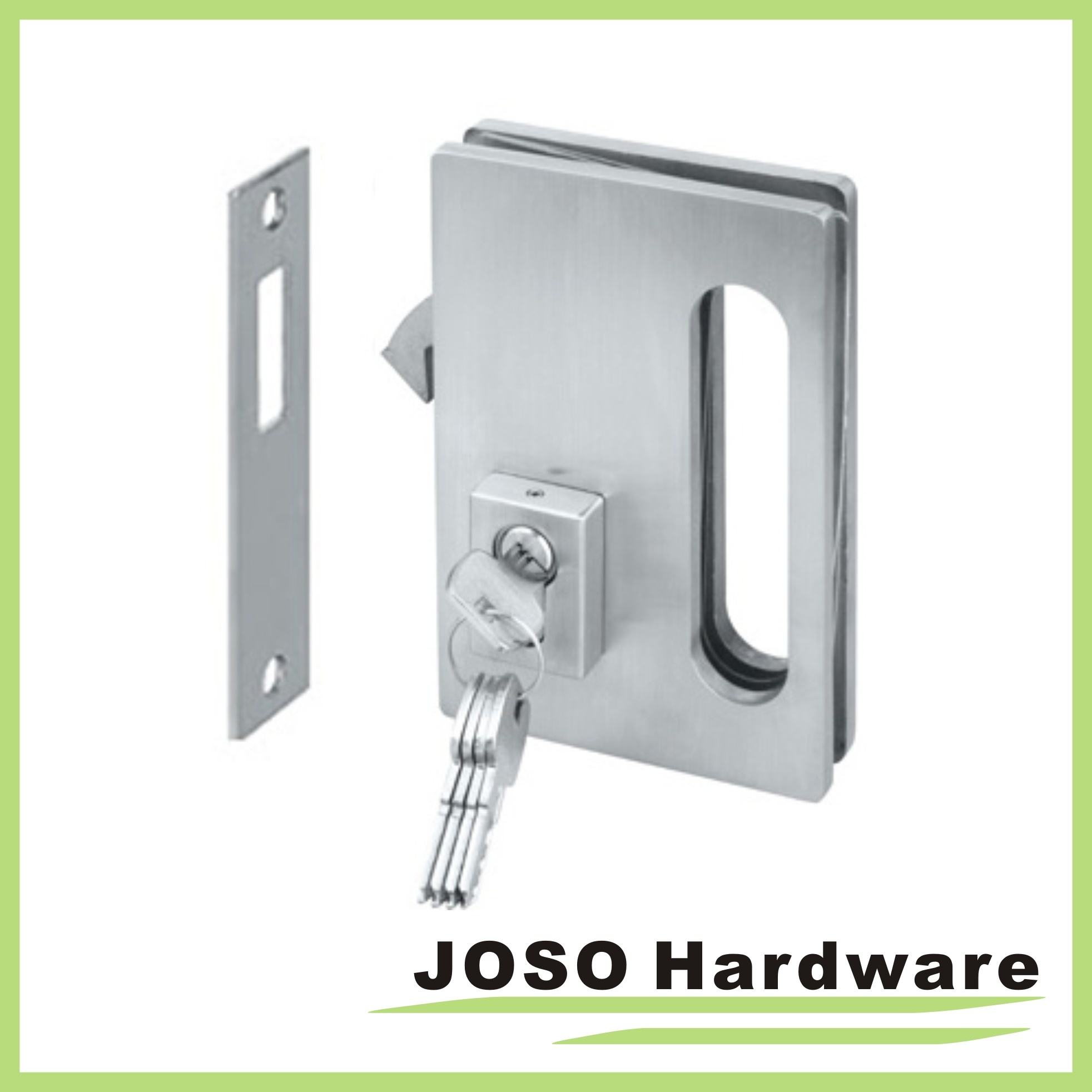 China Glass Door Hardware Sets Sliding Locks With Key Gdl001a