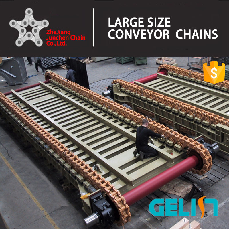 Nonstandard Heat Treatment Customerized Apron Feeder Conveyor Chain (WB1800) pictures & photos