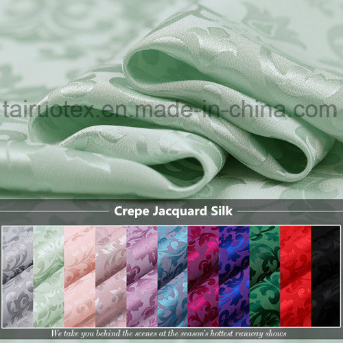 22mm Crepe Jacquard Silk for Silk Comforter and Garment Fabric
