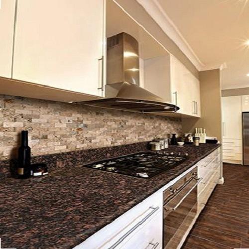 China Natural Stone Tan Brown Granite Countertop For Kitchen China