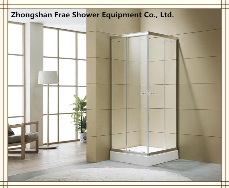 China Square Shower Sliding Screen Corner Sliding Door Bathroom