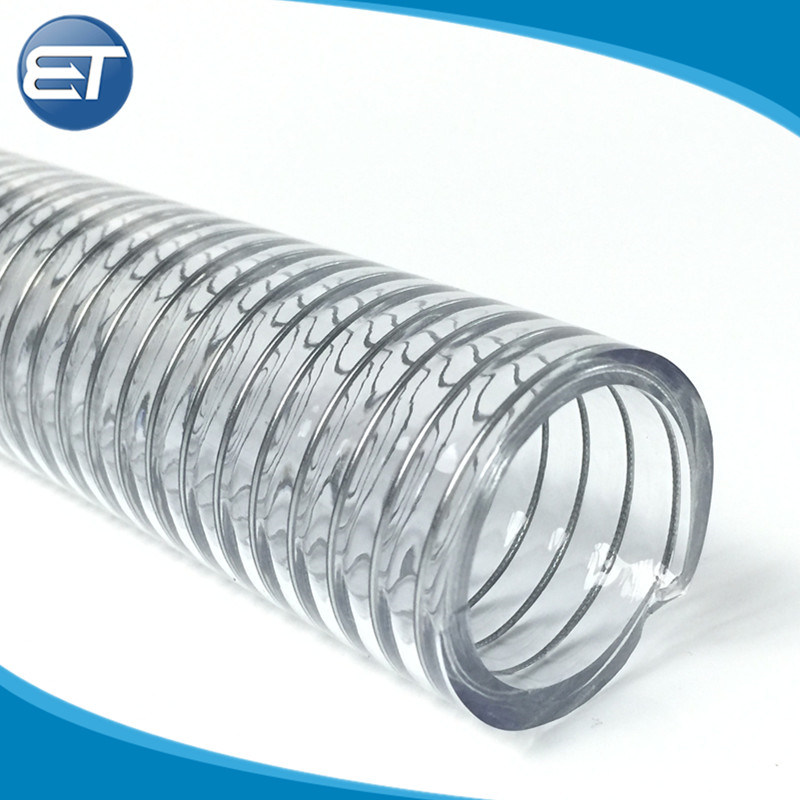 China Food Grade FDA Approved Flexible PVC Material Spiral Steel ...