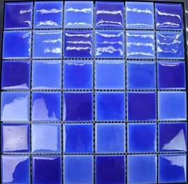 China Cheap Waterproof Blue Ceramic Mosaic Tile for Swimming Pool ...