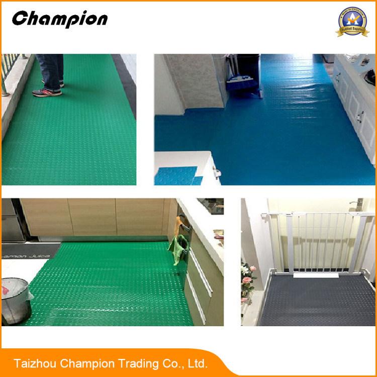 China Eco Friendly Anti Slip Swimming Pool Pvc Floor Mat Embossed