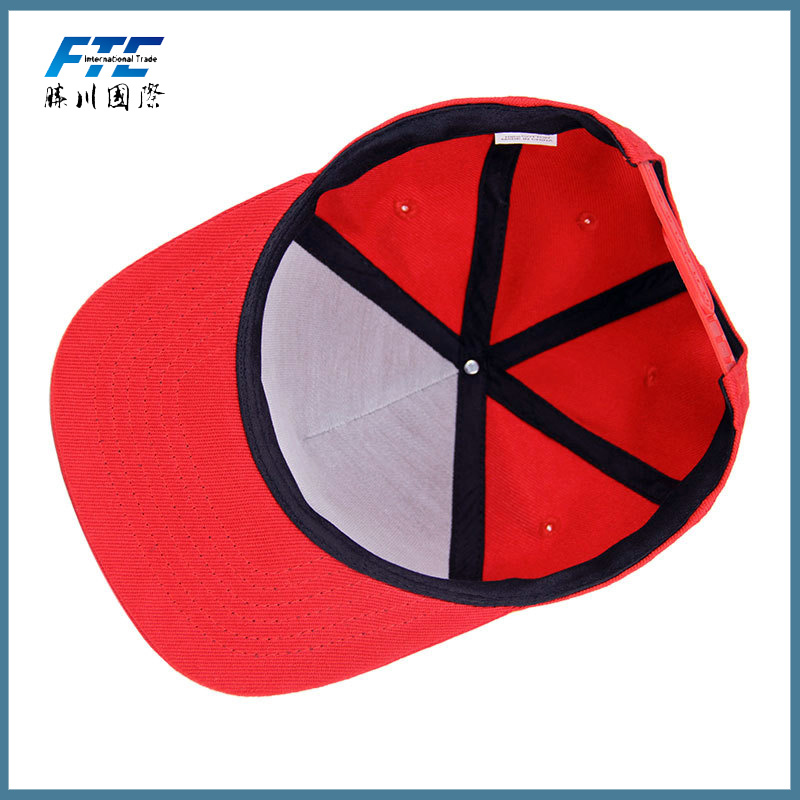 China High Quality 3d Letter Embroidery Short Brim Snapback Hat