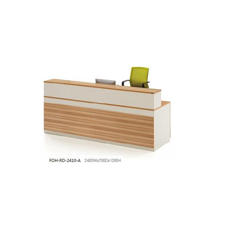 China Economical Design Mfc Melamine Office Furniture Reception Counter Desk Economic Recepetion