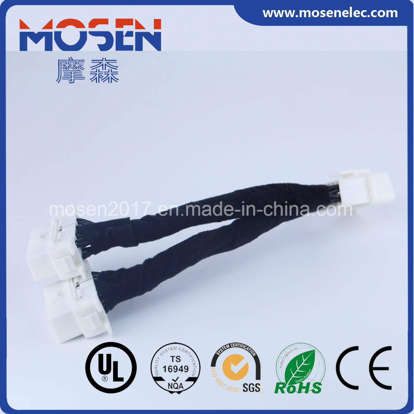 China OBD 16p Auto Wiring Harness with 2 White Female Connector - China OBD  Harness, Auto Wiring Harness