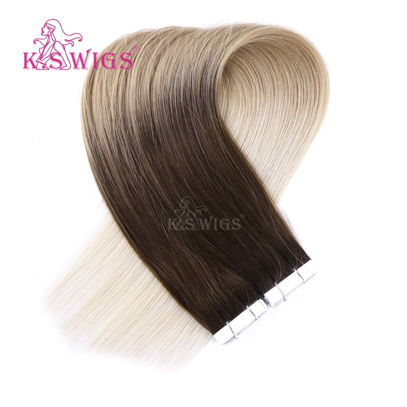 K. S Wigs 2017 New Arrival Top Quality Tape Hair Extension Human Hair Extension pictures & photos