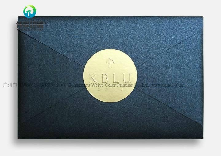 China Attractive Gold Foiled Black Wedding Invitation Card