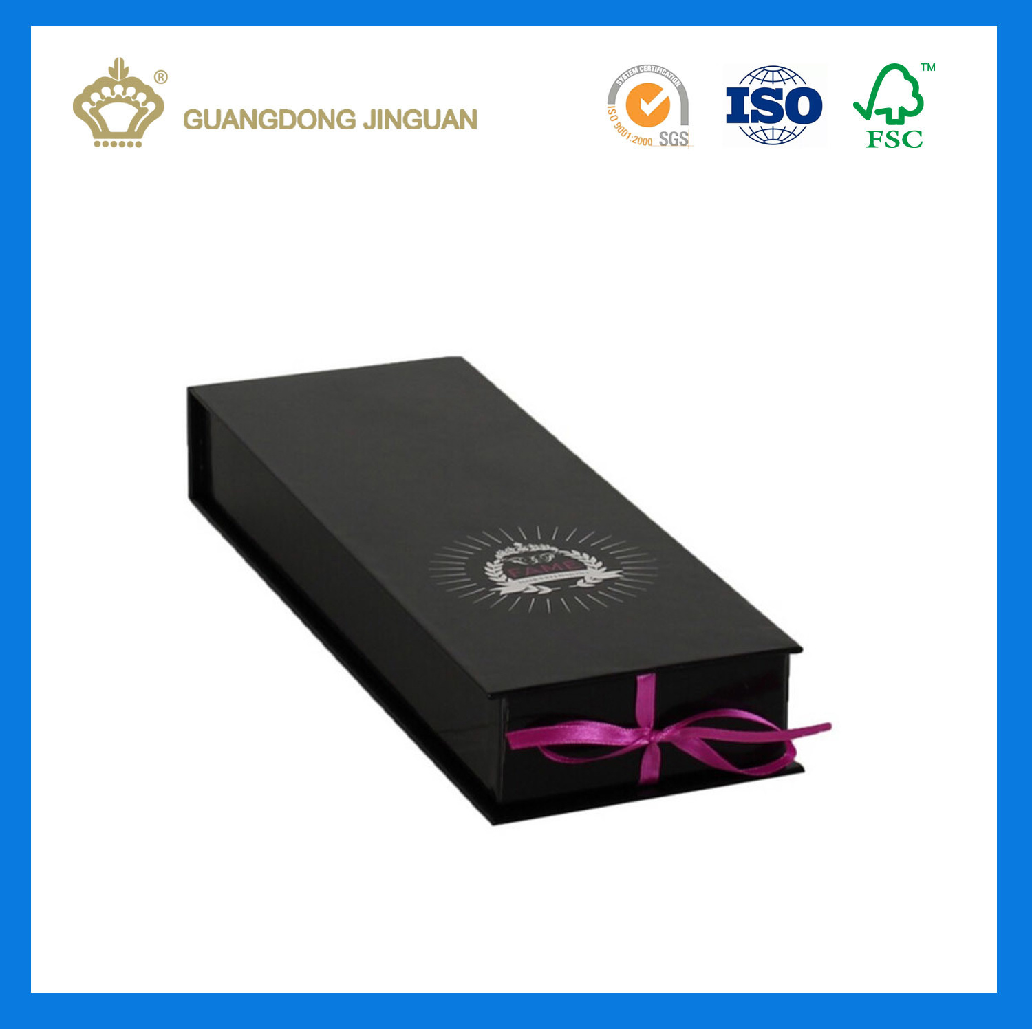 China Customized Hair Extension Packaging Box With Ribbon Knot