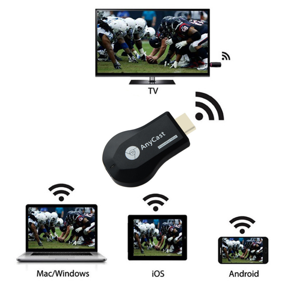 China Anycast M9 Plus WiFi Display Dongle Receiver 1080P HDMI TV