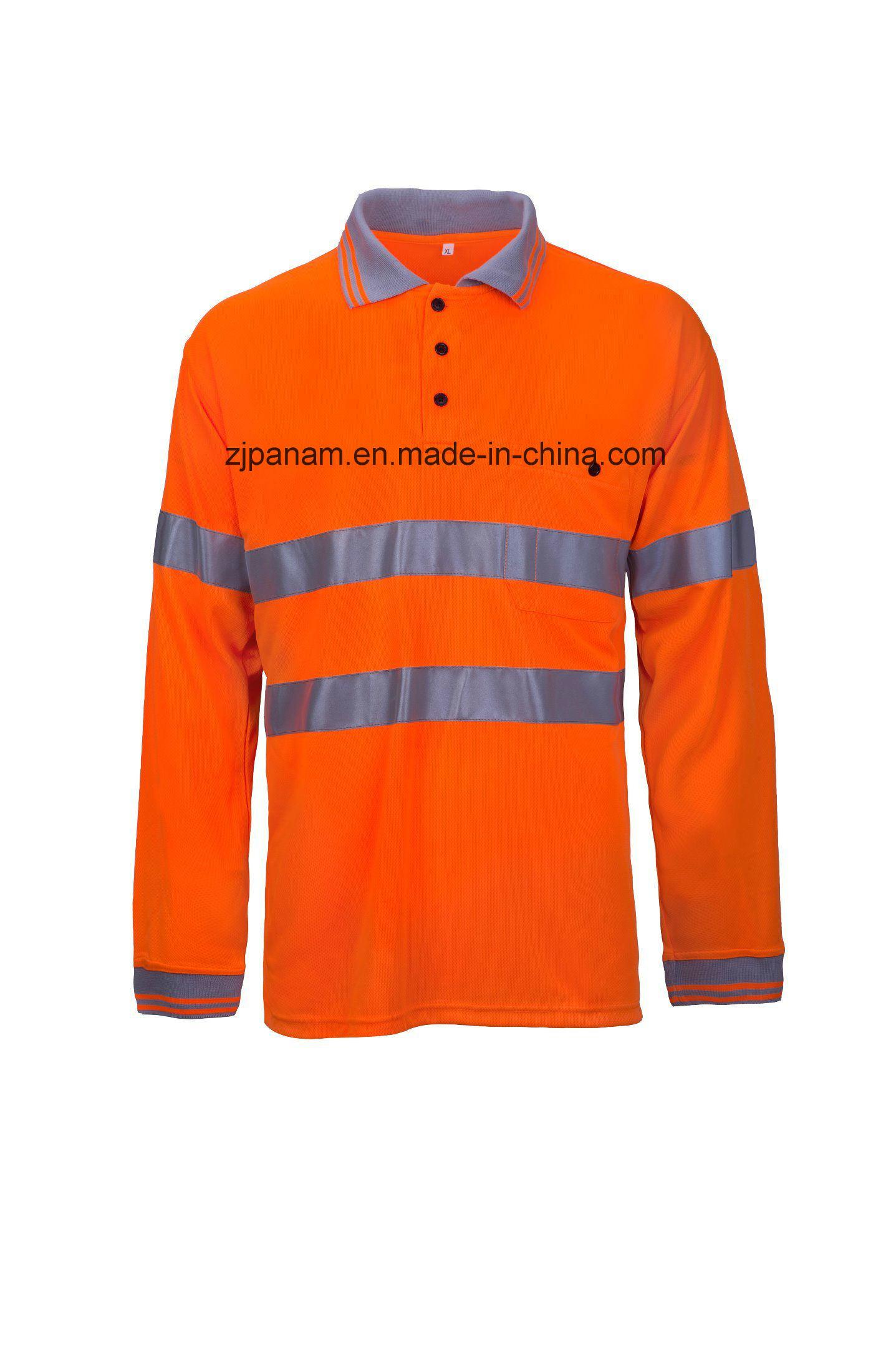 Safety Orange Long Sleeve Polo Shirts Bcd Tofu House