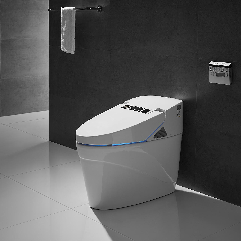 China Western Commode Bathroom Elongated Ceramic Intelligent Toilet Sanitary Ware China Sanitary Ware Toilet Sanitary Ware