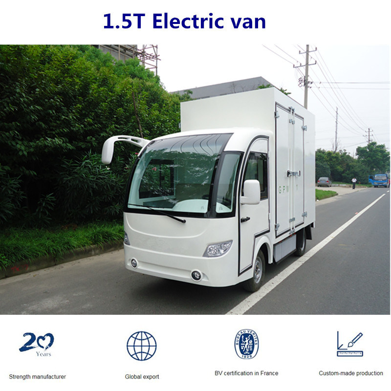 low price sale online here super quality [Hot Item] Electric White Closed Van for Factory Transport