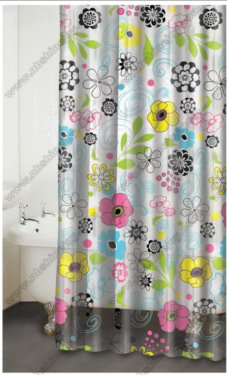 Polyester Peva Eva Pvc Shower Curtain Bath Bathroom