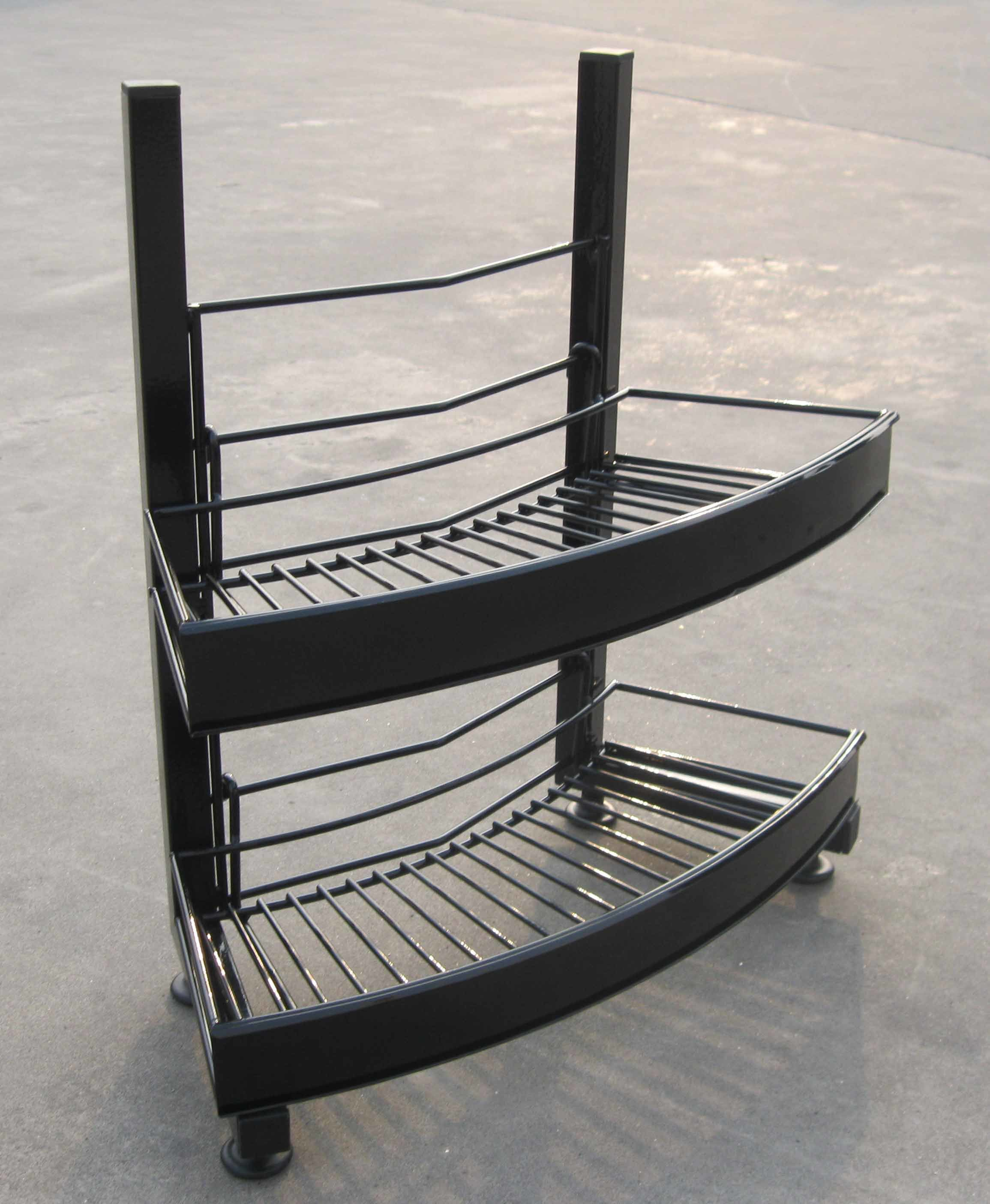 China Table Top Two Tier Wire Basket Hanging Display Stand Counter Rack Snack Potato Chip